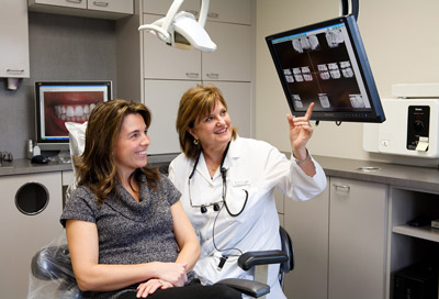 Dr. Wendy Spektor with a patient at Spektor Dental